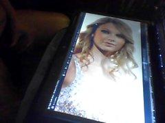 A Cum-tributo preto dick facial para Taylor Swift