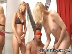 Guy Submits Himsels On Two Hot Shemales Duda Little And Camilli Rios