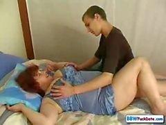 Rysk BBW mom och sonen