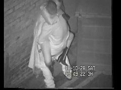 Britische Schlampe Erwischt Shagging Auf CCTV hinter dem Tanzen