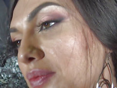 Russian ladyboy cocksucking until facial