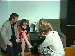 Die Gruppenfamilie Fick Sohn Tochter Vater und Mutter