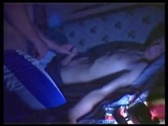 Jerking sleeping friend and 2 cums