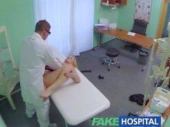 FakeHospital Busty beautiful blonde doktor muayene masa emer