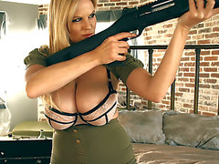 Kelly Madison fearsome-menacing Large Titty Sniper