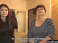 OmaHunter Medelålders tanter testas av Tonåring