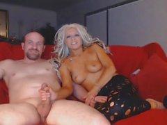 Hot Blonde Suce Huge Cock Deep In Her Throat