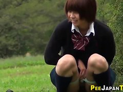Los estudiantes japoneses pis