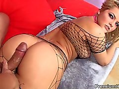 Sexy assed pornstar Alexis Texas fucking in fishnets