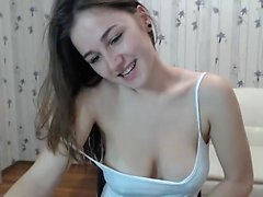 tonåring alanawolf blinkande bröst på live webbkameran
