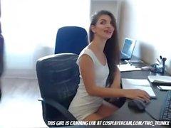 Min medarbetare är en Camgirl (HUUU)