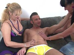 German Mom Teach Step-Daughter to Fuck Her Friend