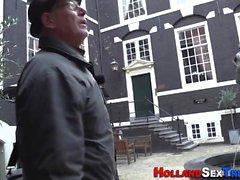 Vieux talonneur néerlandais suce