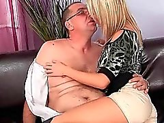 Grandpa fucks hot young blonde