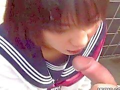Japanese schoolgirl chupa polla Uncensored