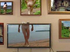 caminhada nu em uma praia nas ilhas do apóstolo por Mark Heffron