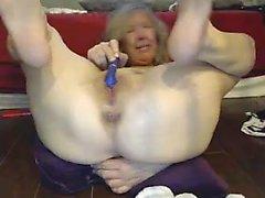 Femme d'âge mûr amateur Jerk Off son Hubbys Cock