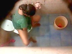 Bangla desi Neighbor aunty bathing & toilet Hidden cam