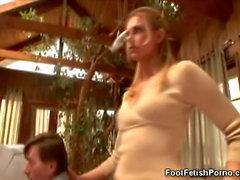 Nr Sound: Fuß Fetisch und das blonden Sekretärin
