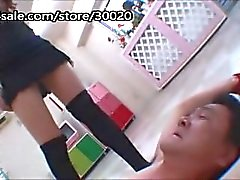 abused with sock worship and face sitting japanese pervert gets caught
