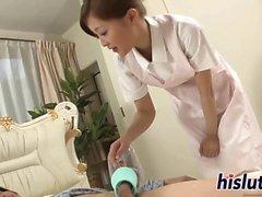 Ankeaa ankeaa sessiossa käsiksi Japani sairaanhoitaja