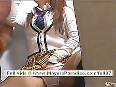 Miyu Hoshino naughty asian schoolgirl enjoys sucking cock