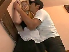 AMWF Abigaile Johnson interracial with Asian guy