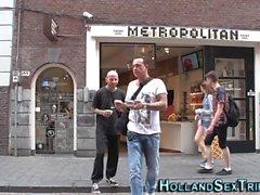Echte holländische Hure leckte