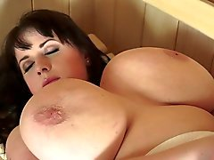 Милая BBW Одобрений Sauna Секс