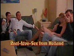 Реальный секс из Голландии в