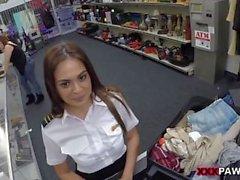 Fodendo uma Stewardess Latina Sexy
