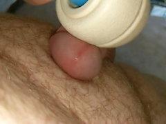 Vibrator on dick until I cum