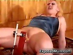 Mother caught using dildo machine part3