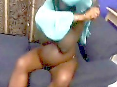 Pregnant ebony with huge boobs gets her pussy slammed
