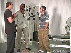 Svarta killar knullar i vitt killen på killen