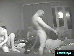 Hidden Cam Gangbang Russian Marines & Truckers