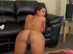 Sultry Brianna Jordan shows off her sublime curves and her sweet holes