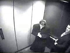 Минет в лифт