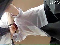 Японский подросток получает машина половые контакты
