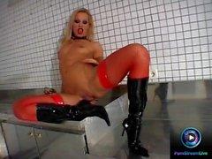 Fresh brunette Eve Angel doing deep penetration