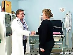 Mature Vilma has her pussy properly gyno checked at gyno