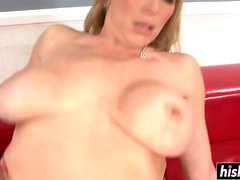 Nasty babe makes a cock disappear