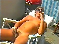 Jean op balkon