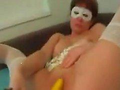 Crezy maduros de la mujer Gallo y folla plátanos