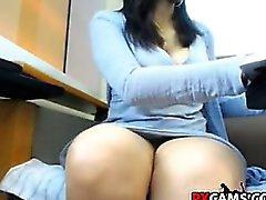 Spaß an der öffentliche Bibliothek Chatte Webcam