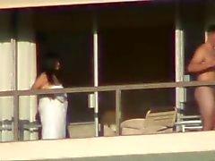 sexo tr el balcon