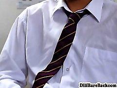 DILF учителем facializes студент после типа