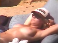 Blonde on a beach outdoor sex