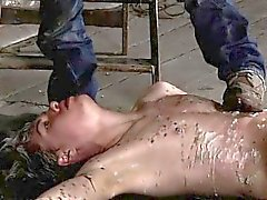 Male nazi bondage gay Chained to the warehouse floor and una