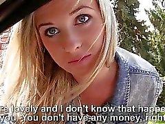 Blonde lindo adolescente de Vinna la caña el sexo de efectivo